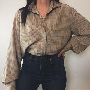 Tops - BRIDGETTE silky patterned blouse